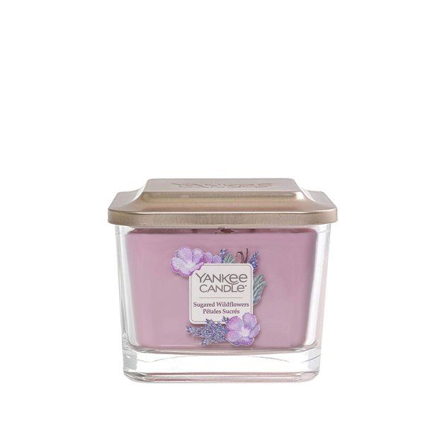 Elevation Sugared Wildflowers Medium Square Candle