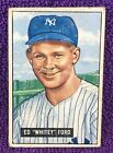 1951 BOWMAN BASEBALL = WHITEY FORD #1 = YANKEES – SET BREAK – (CREASE)