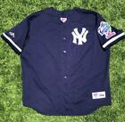 VTG 90s Majestic Diamond Collection Yankees 98 World Series Patch MLB Jersey 2XL