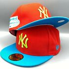 Yankees All Stars Game 2008 59FIFTY New Era Red and Blue Hat Cap Blue Bottom
