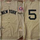 NY Yankees Legend Joe DiMaggio Grey Replica THROWBACK Sz Large Baseball Jersey