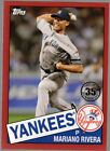 2020 Topps Mariano Rivera #85-72 1985 35th Anniversary Red /10 Yankees HOF