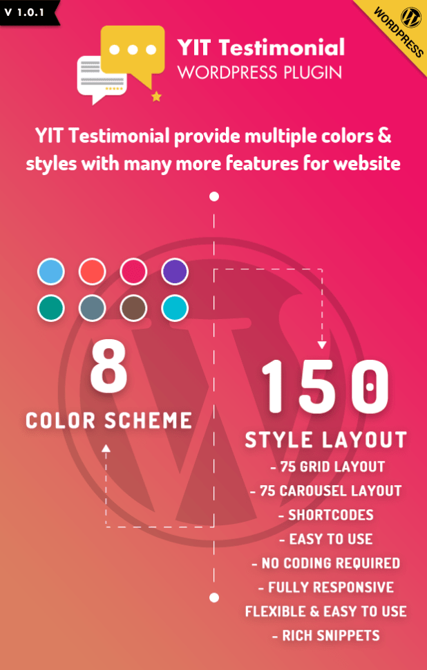 YIT Testimonial is a Multipurpose Testimonial Showcase HTML Widget