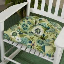 green chair cushions fishing lounge new made in the usa outdoor pillows shoptalk our floral cushion