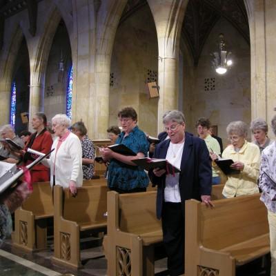 Yankton Benedictines Praying in Chapel