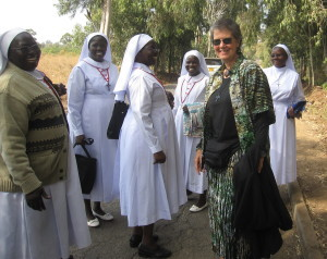 Sister Bonita with some of her students in East Africa