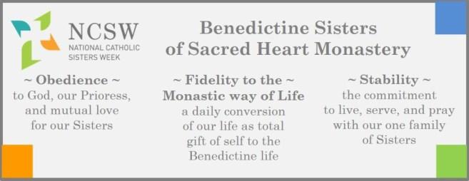 National Catholic Sisters Week Vows Profression NCSW Banner Yankton Benedictine Sacred Heart Monastery Sisters