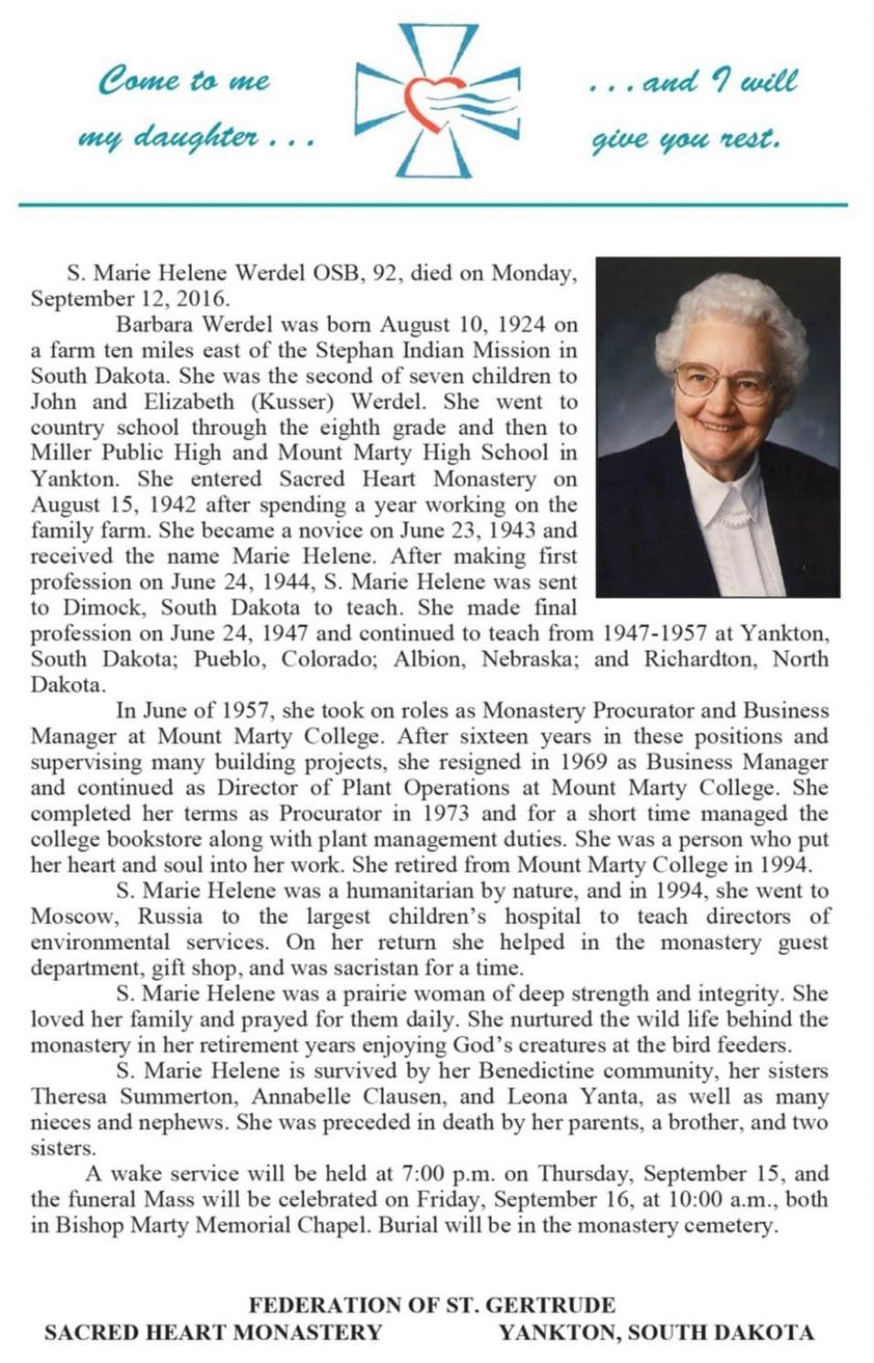 sister-marie-helene-werdel-obituary-yankton-benedictines-sacred-heart-monastery
