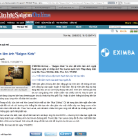 "A fourth press release on the Saigon Times web newspaper about ""Saigon Kids"""