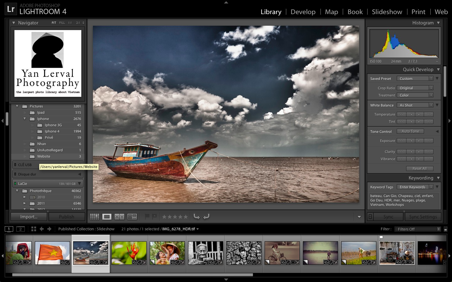 Adobe Lightroom 4 Training Workshop in French on April 7th
