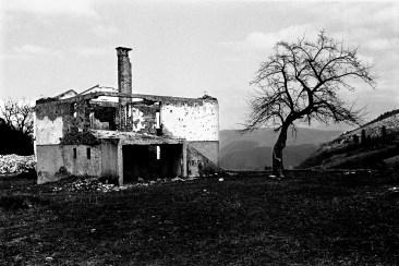 Sur les hauteurs de Sarajevo, l'ancienne ligne de front où se trouvaient les serbes.