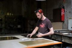 Arthur, 27 ans, est serrurier métallier depuis 8 ans à la métallerie Grésillon.