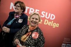 24 octobre 2015, Montpellier (34). 1er jour de campagne officiel de Carole Delga (PS). Militantes au sein du quartier de campagne de Carole Delga.