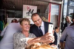 10 septembre 2016, Saint-Ouen (93), FRANCE. Visite au local de la Belle Alliance Populaire à Saint-Ouen en présence de Jean-Christophe Cambadélis, premier secrétaire du Parti Socialiste, et Claude Bartolone, Président de l'Assemblée Nationale.