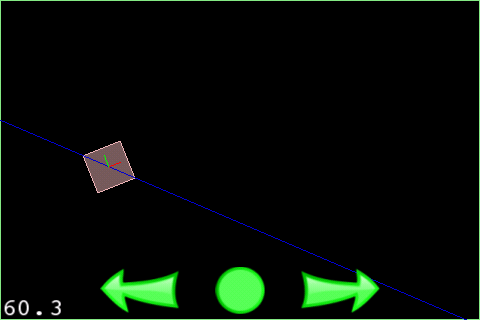 Box2D Buoyancy Example Screenshot