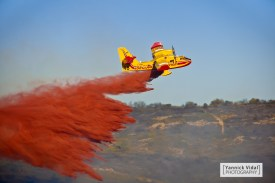 Reportage (fire-fighting plane, South of France)