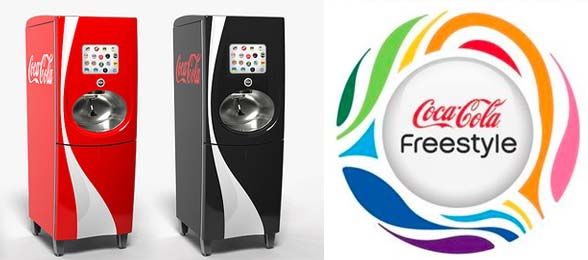 Coca-Cola Freestyle fountain dispenser - design