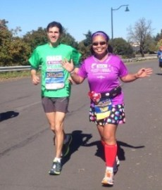 Coach Glen and I.  Mile 22