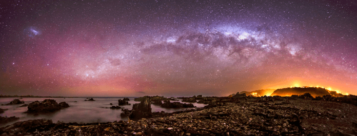 Princess Bay Aurora and Milky Way by Mark Gee
