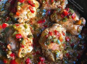 RECETA FITNESS: Contramuslos de pollo sin piel con quinoa y pimientos