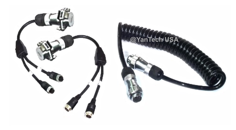 Rear View Trailer Cable Set Backup System Weatherproof 5