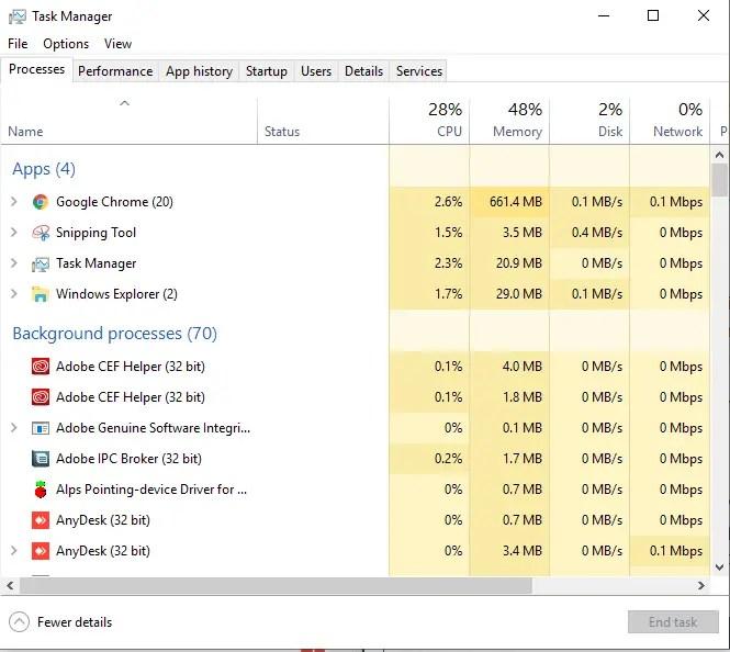 increasing speed using taskbar