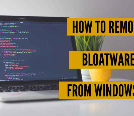 remove bloatware from windows 10