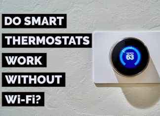do smart thermostats work without Wi-Fi