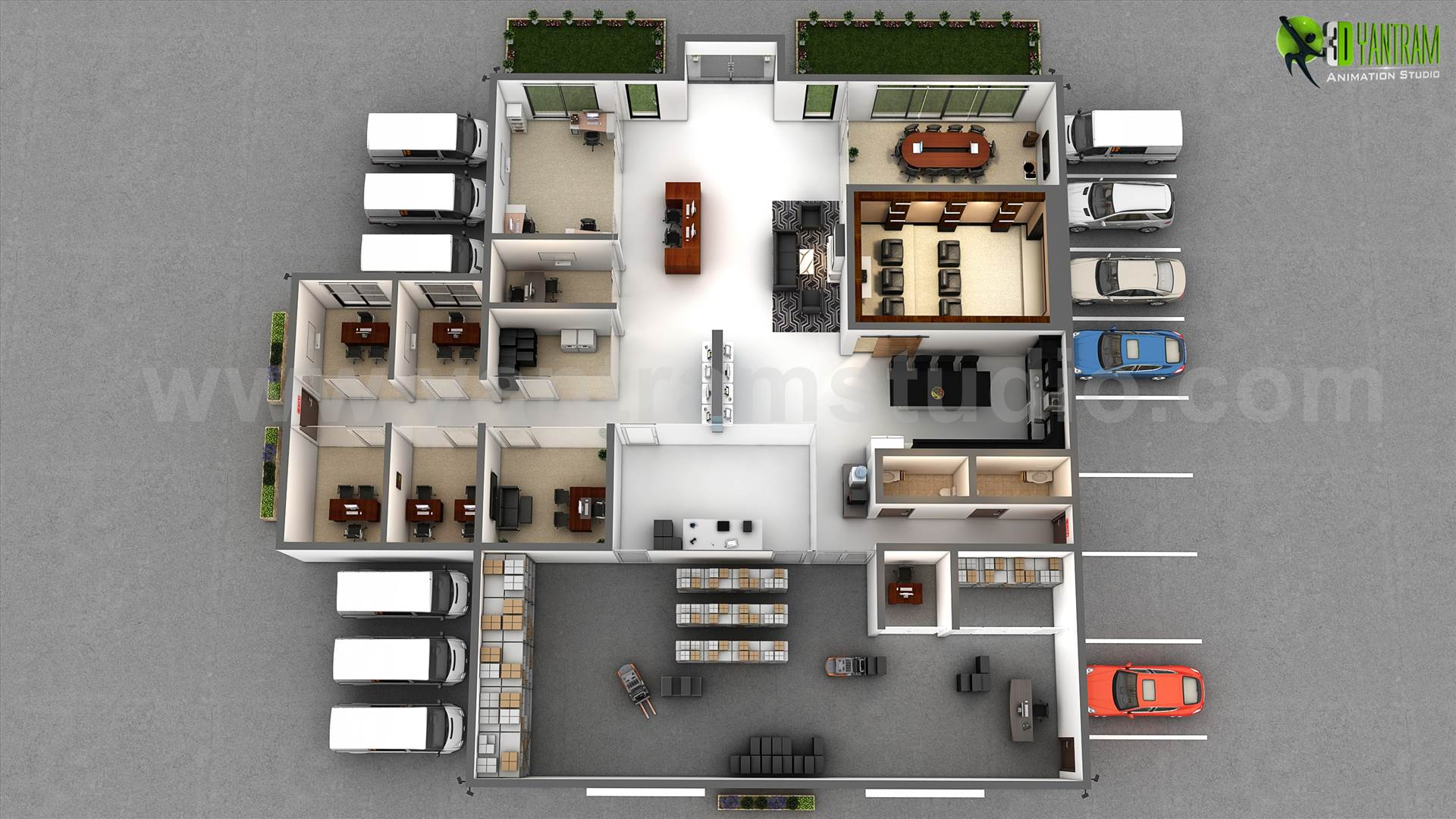 floor Plan design companies for Office  Architecture 3D
