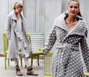 пальто в стиле французской деревни