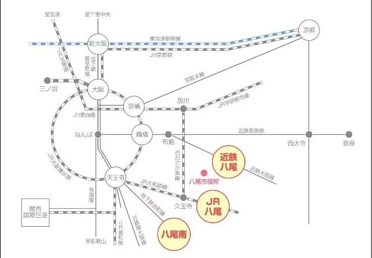 八尾市路線図