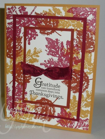 Gently Falling Triple Time card by Yapha
