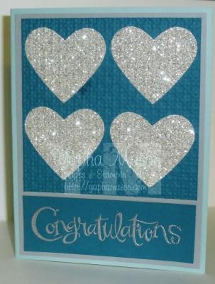 Silver Heart Engagement Card by Yapha Mason