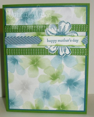 Green & Blue Mother's Day Card by Yapha