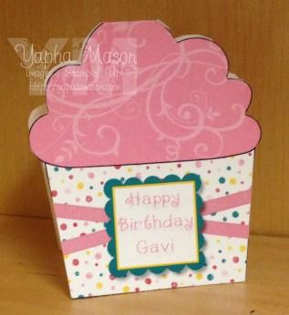 Cupcake Shaped Card by Yapha Mason
