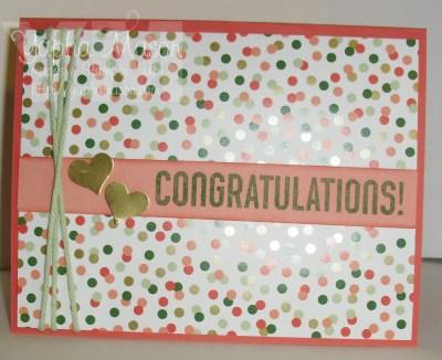 Gold Congratulations Card by Yapha Mason