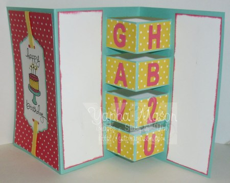 Building Block Birthday Card by Yapha