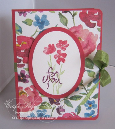 Painted Blooms Card Holder & Cards SP
