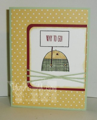Cheerful Chick card by Yapha
