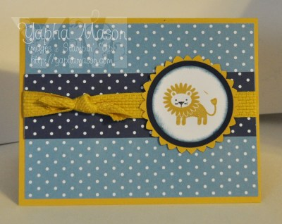 Hello Honey Lion Card by Yapha