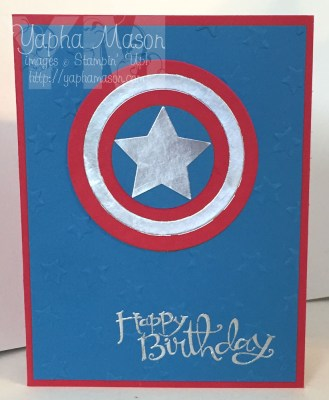 Captain America Card by Yapha
