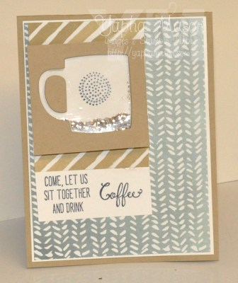 Coffee Cup Shaker Card by Yapha
