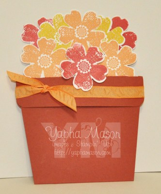 Flowerpot Card closed by Yapha