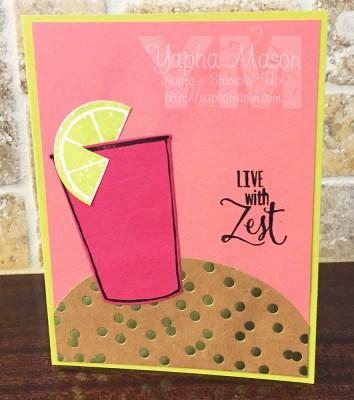 Live with Zest Plexus Card by Yapha