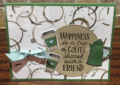 Coffee with a friend card by Yapha