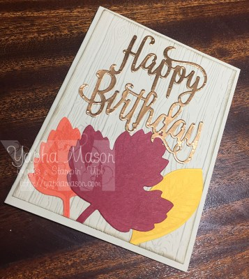 Fall Birthday Card by Yapha