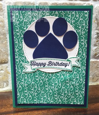 Paw Print Birthday Card by Yapha