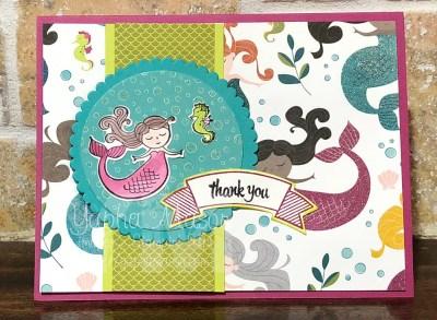 Magical Mermaid Thank You by Yapha