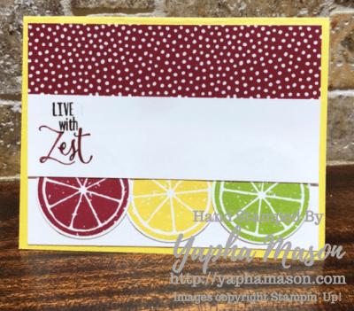 Live with Zest card