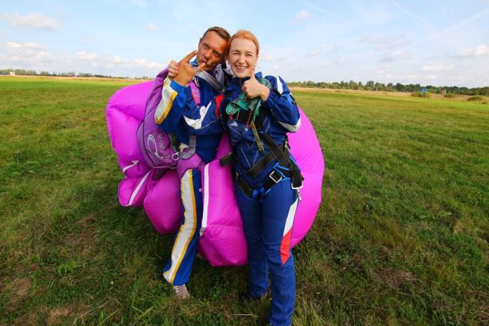 Юлия Шевелёва - впечатления о прыжке с парашютом